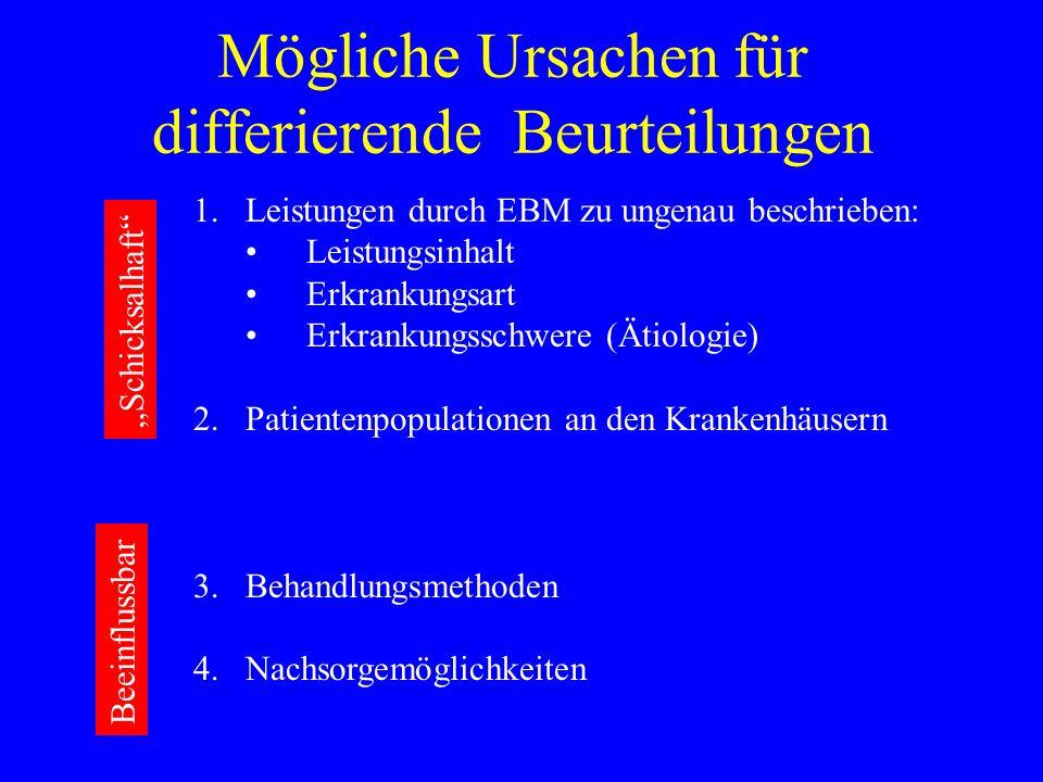Mögliche Ursachen für differierende Beurteilungen
