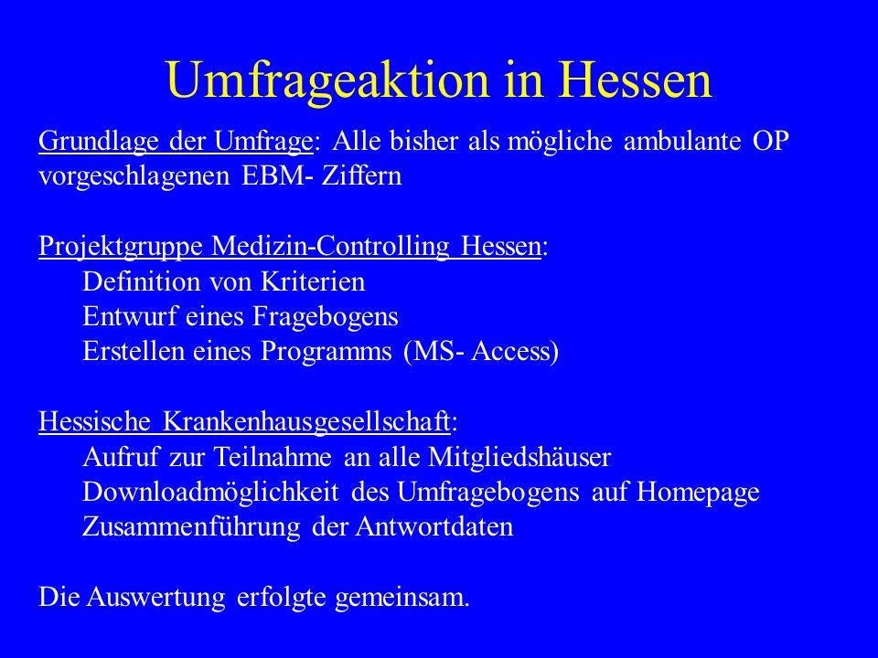 Umfrageaktion in Hessen