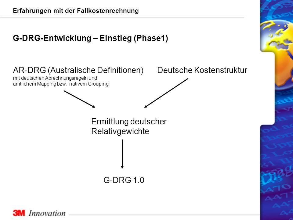 G-DRG-Entwicklung – Einstieg (Phase1)