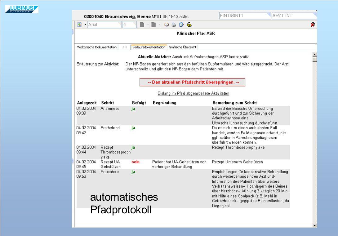automatisches Pfadprotokoll