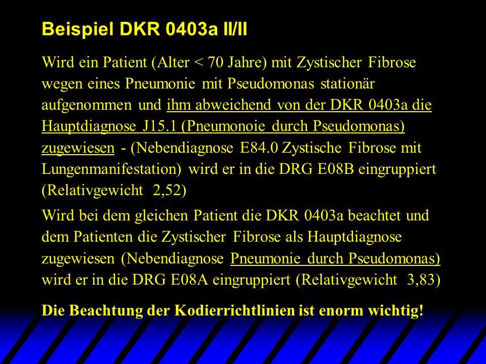 Beispiel DKR 0403a II/II