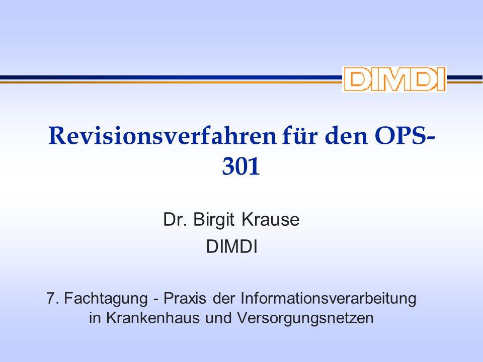Revisionsverfahren für den OPS-301