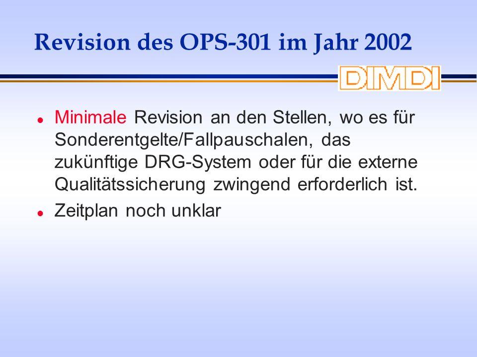 Revision des OPS-301 im Jahr 2002
