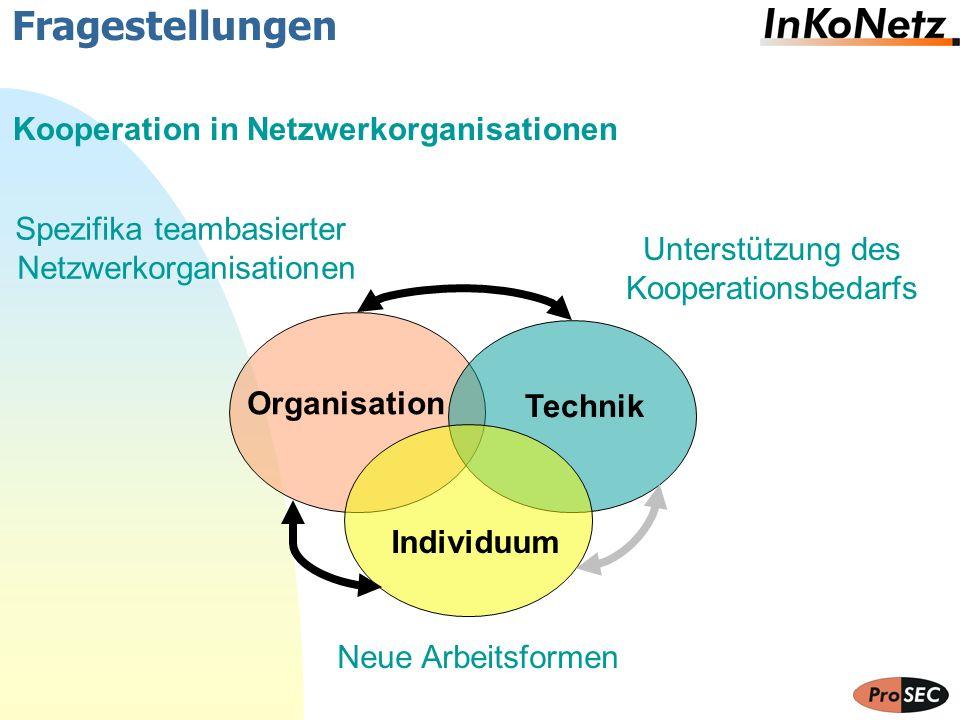 Fragestellungen Kooperation in Netzwerkorganisationen