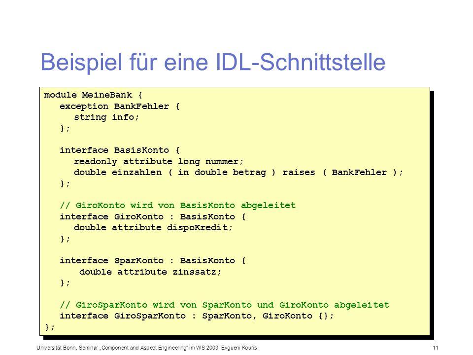 Beispiel für eine IDL-Schnittstelle