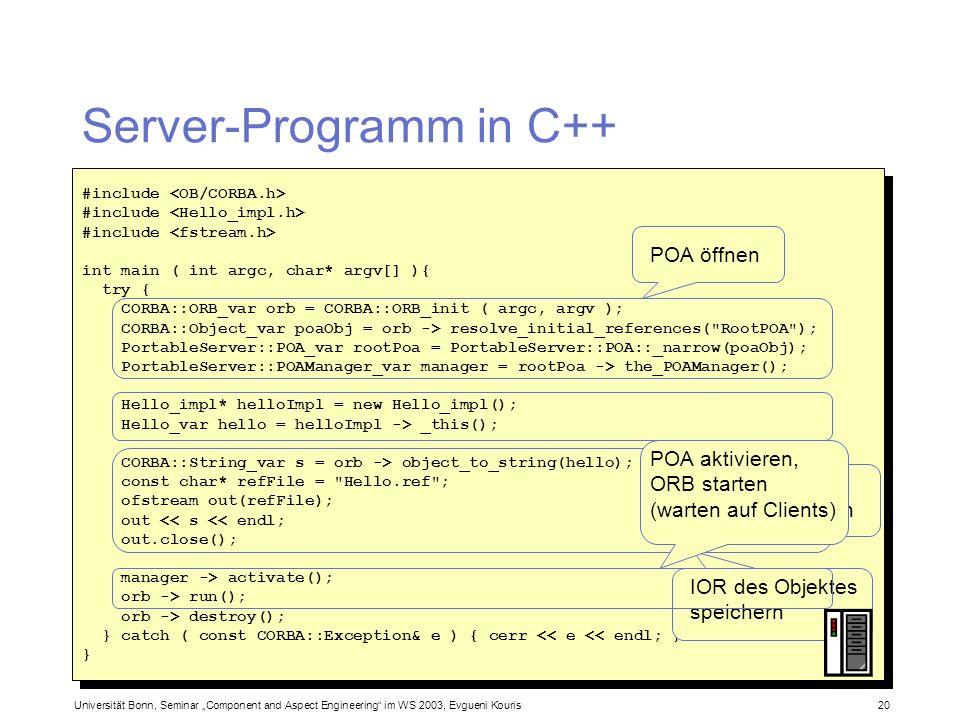 Server-Programm in C++