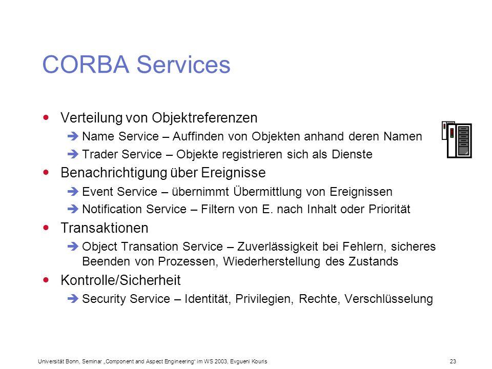 CORBA Services Verteilung von Objektreferenzen