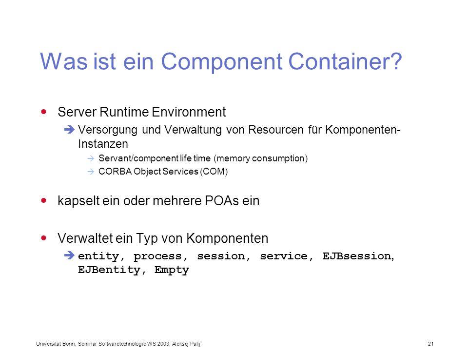 Was ist ein Component Container