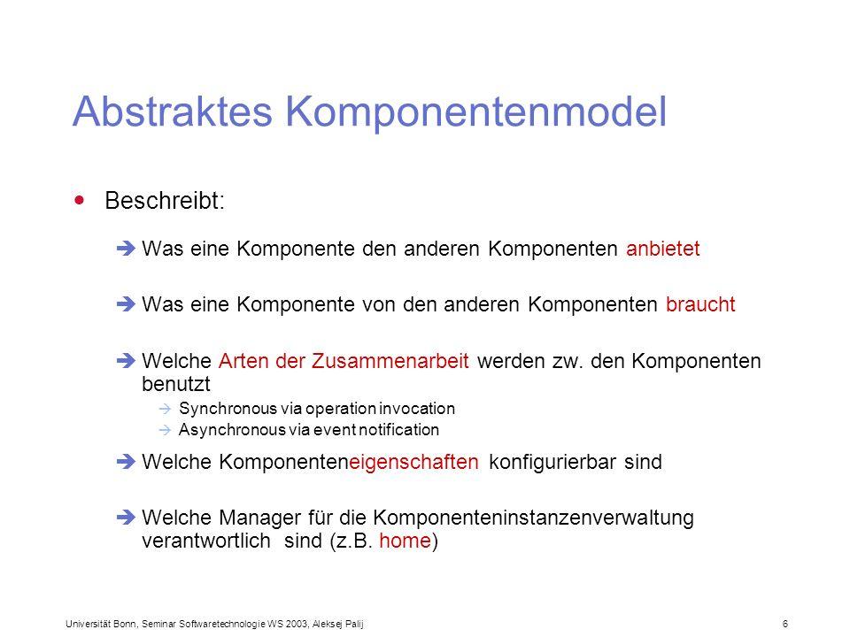 Abstraktes Komponentenmodel