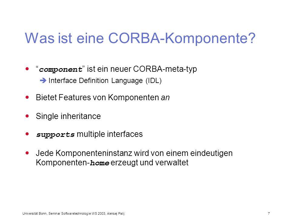 Was ist eine CORBA-Komponente
