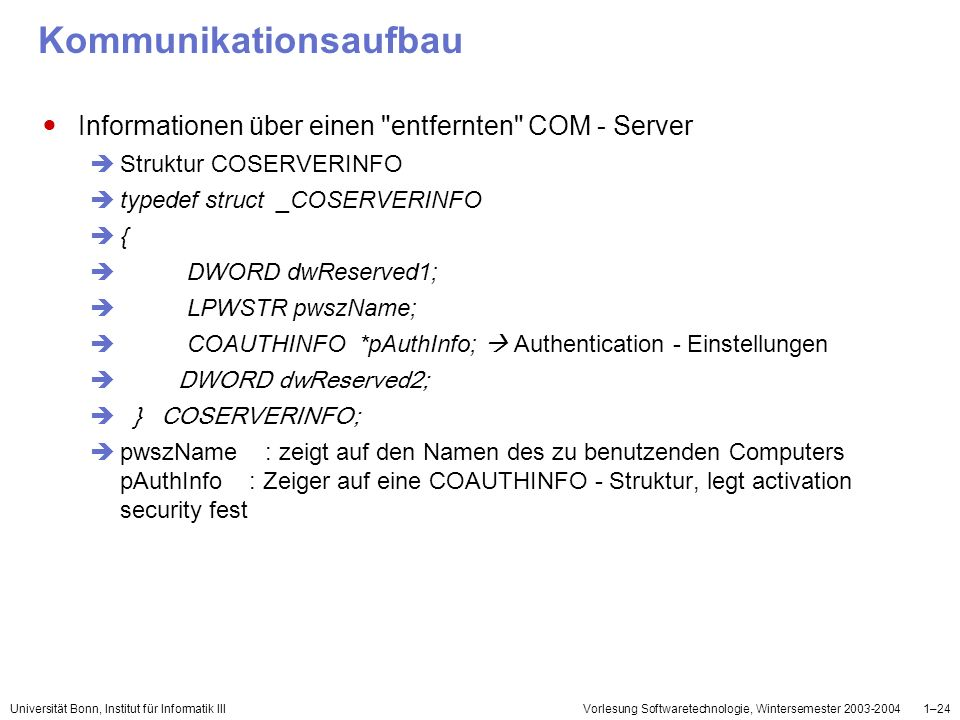 Kommunikationsaufbau