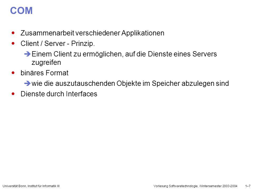 COM Zusammenarbeit verschiedener Applikationen
