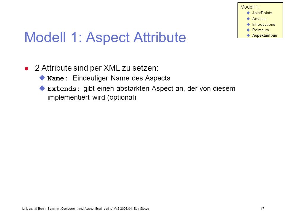 Modell 1: Aspect Attribute