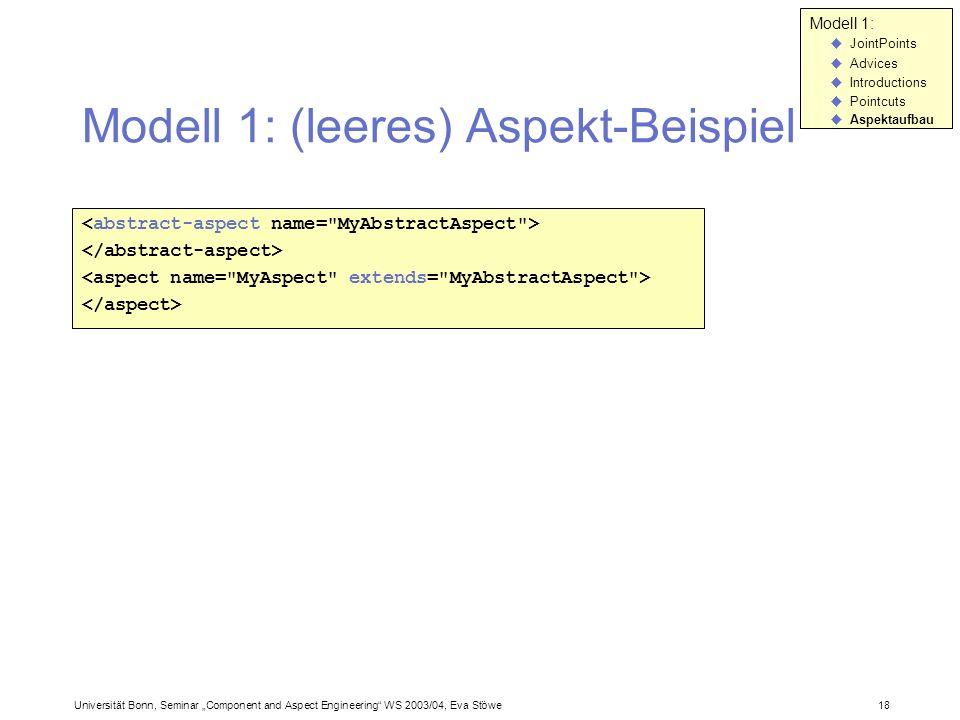 Modell 1: (leeres) Aspekt-Beispiel
