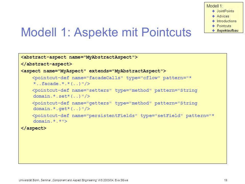 Modell 1: Aspekte mit Pointcuts