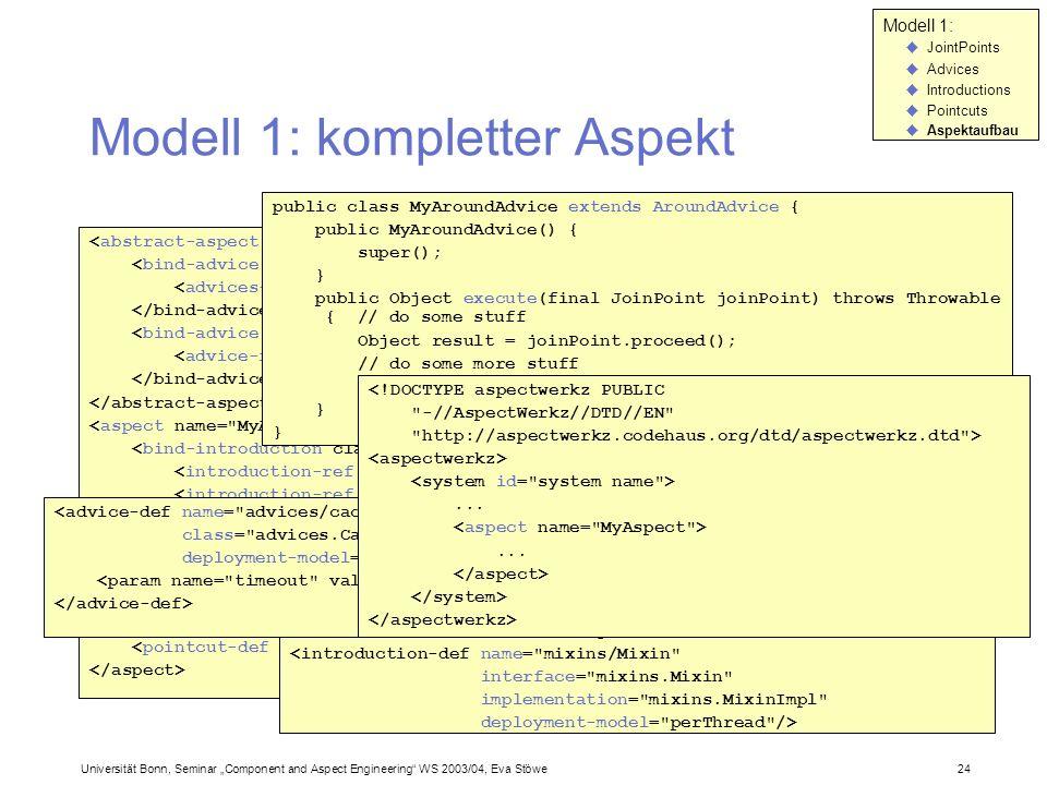 Modell 1: kompletter Aspekt