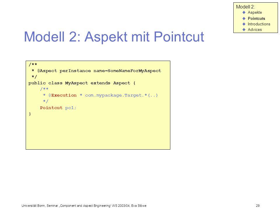 Modell 2: Aspekt mit Pointcut