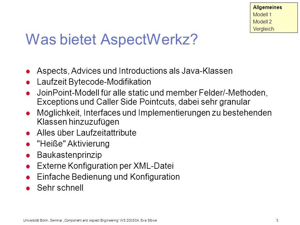 Was bietet AspectWerkz