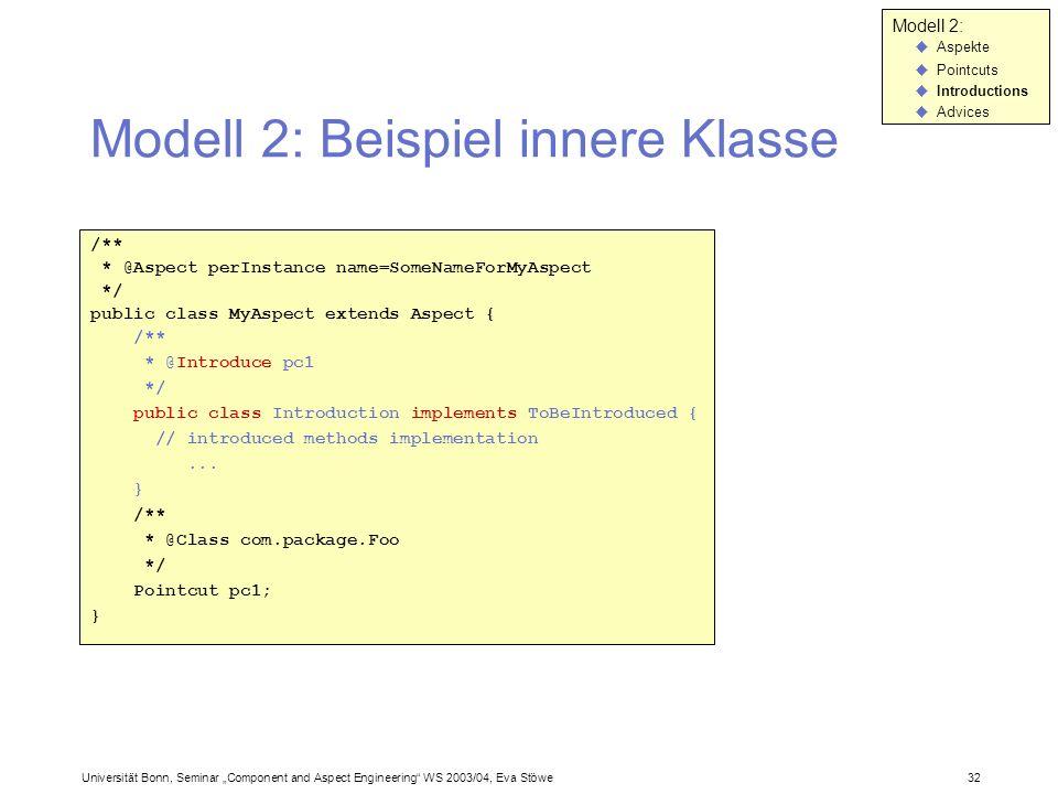 Modell 2: Beispiel innere Klasse