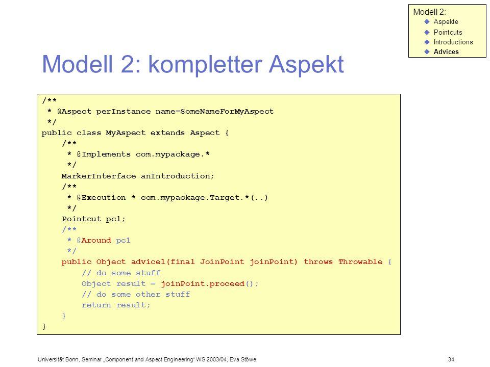Modell 2: kompletter Aspekt