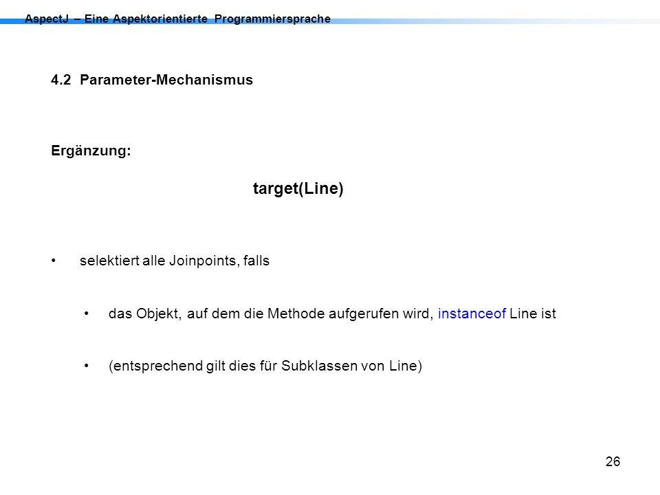 4.2 Parameter-Mechanismus