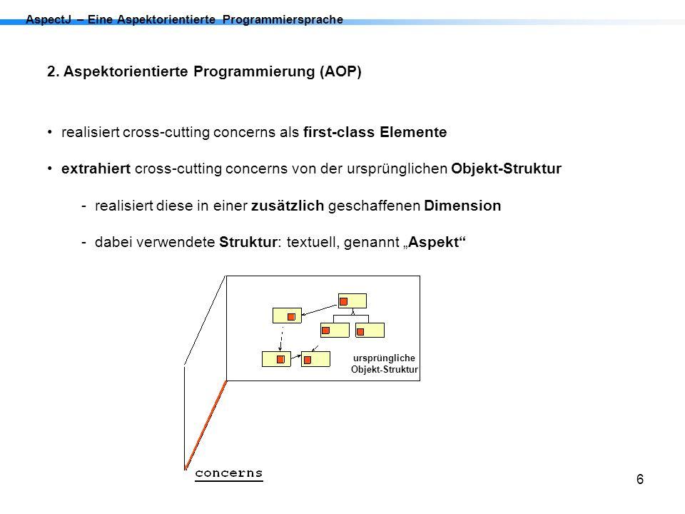 2. Aspektorientierte Programmierung (AOP)