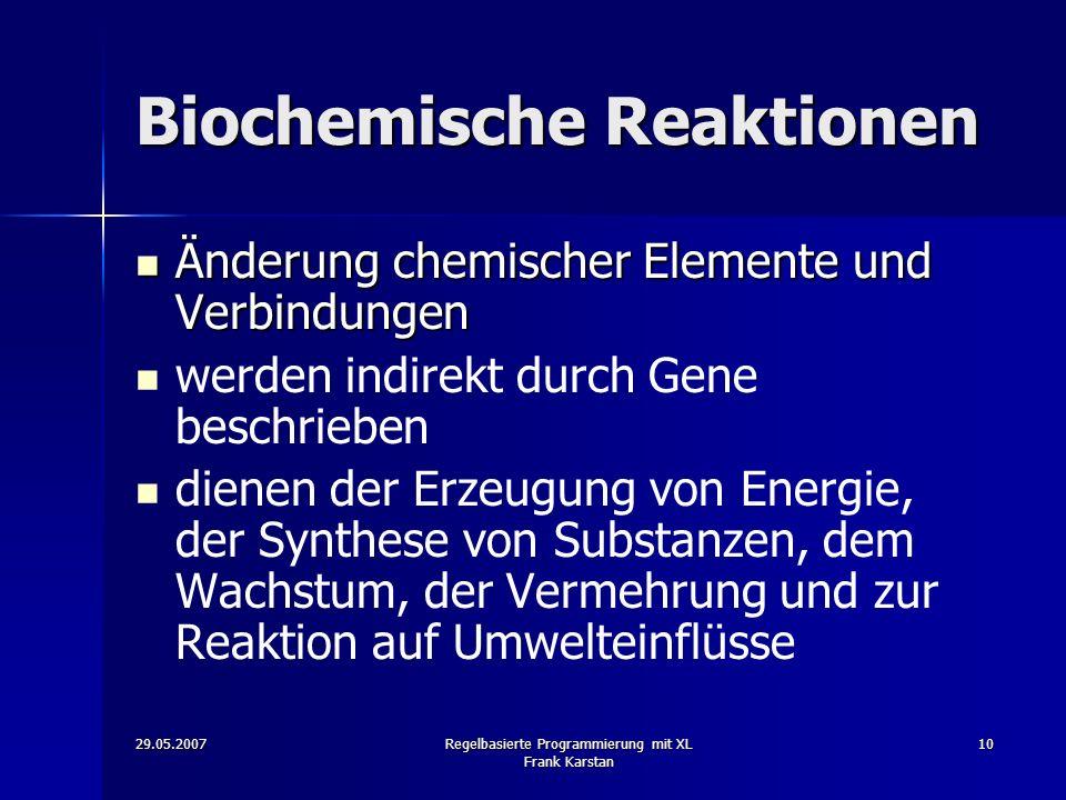Biochemische Reaktionen