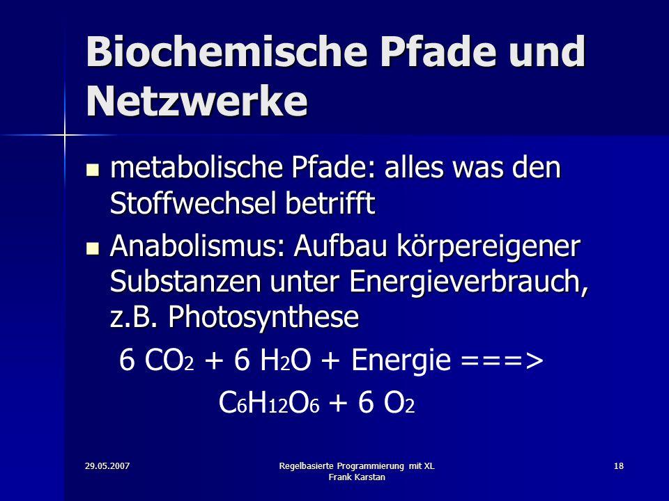 Biochemische Pfade und Netzwerke