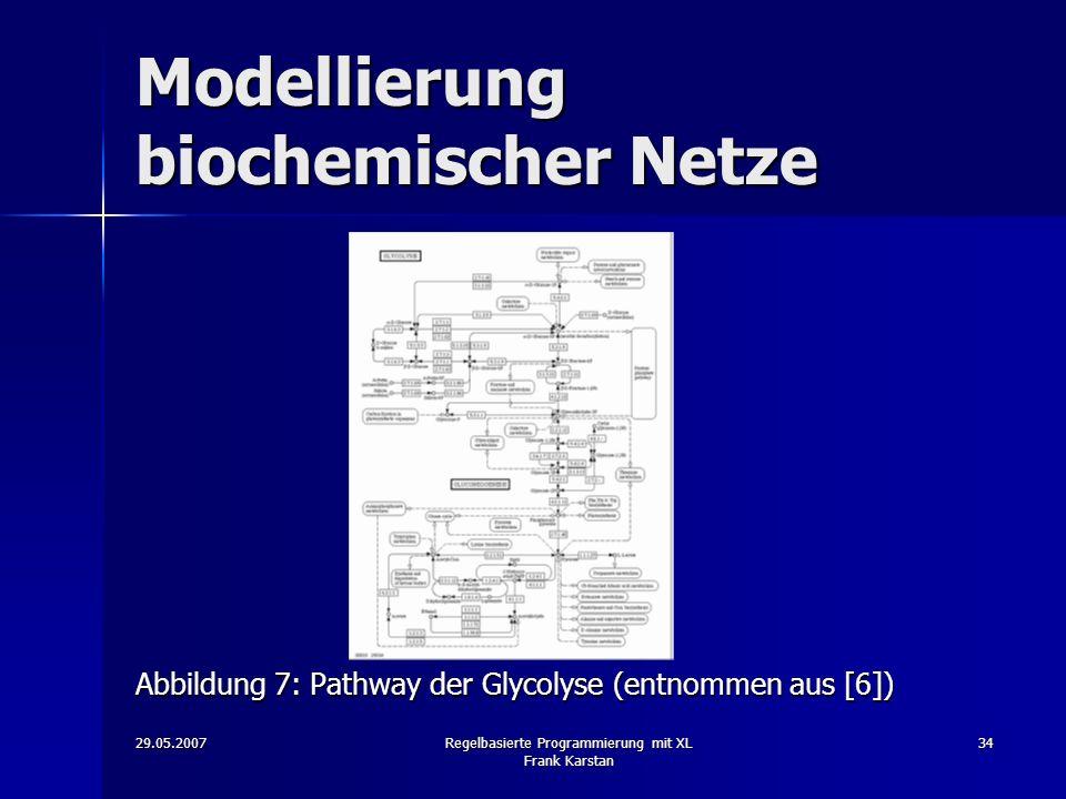 Modellierung biochemischer Netze