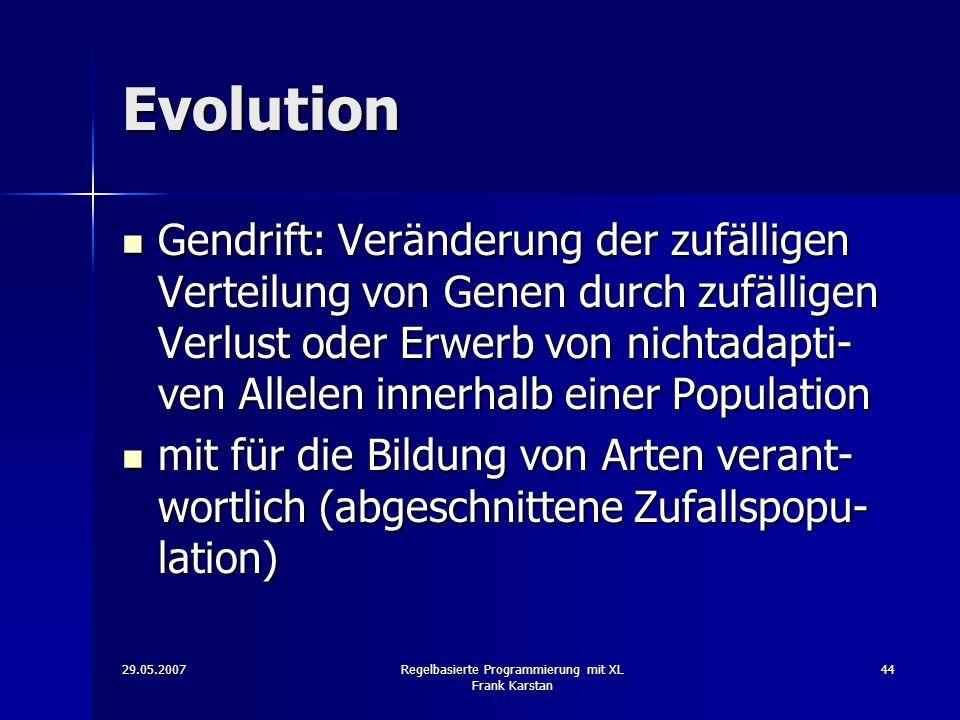 Regelbasierte Programmierung mit XL Frank Karstan