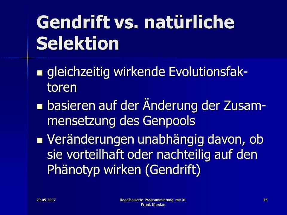 Gendrift vs. natürliche Selektion
