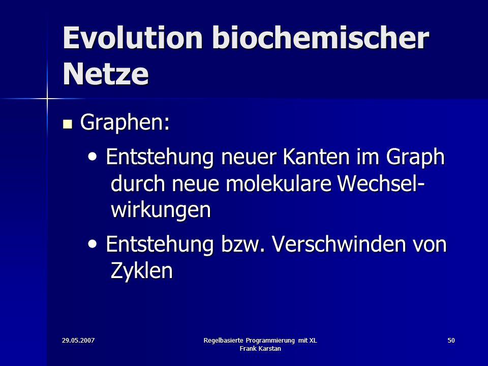 Evolution biochemischer Netze
