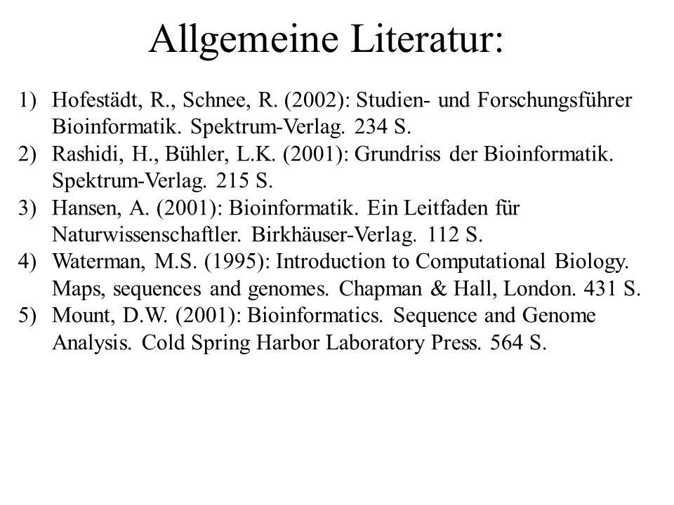 Allgemeine Literatur: