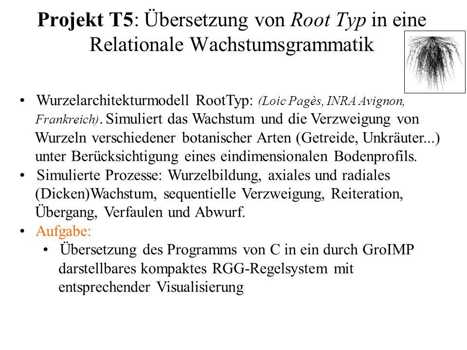 Projekt T5: Übersetzung von Root Typ in eine Relationale Wachstumsgrammatik