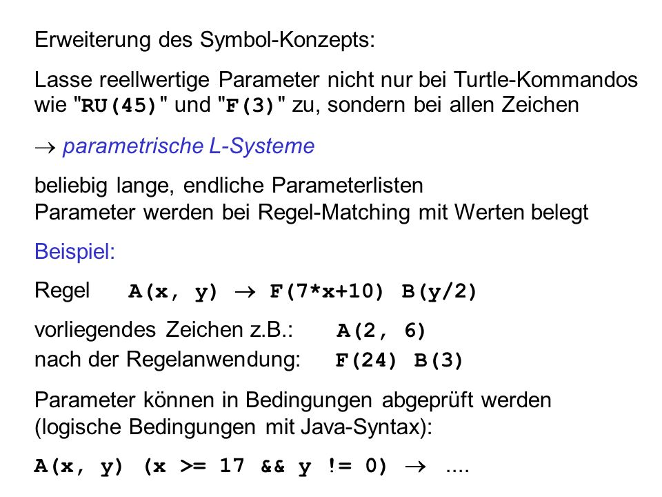 Erweiterung des Symbol-Konzepts: