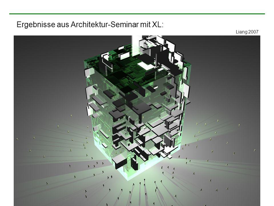 Ergebnisse aus Architektur-Seminar mit XL: