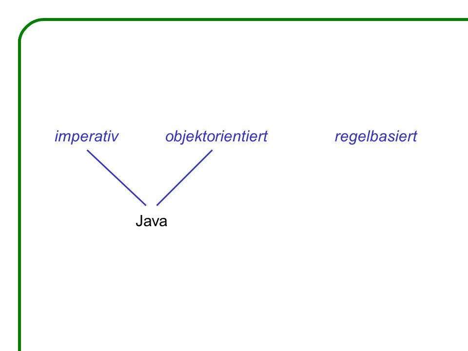 imperativ objektorientiert regelbasiert Java