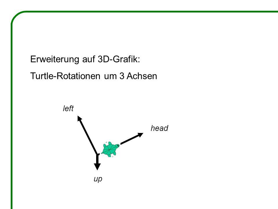 Erweiterung auf 3D-Grafik: Turtle-Rotationen um 3 Achsen
