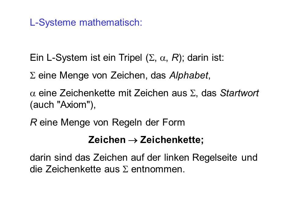 L-Systeme mathematisch:
