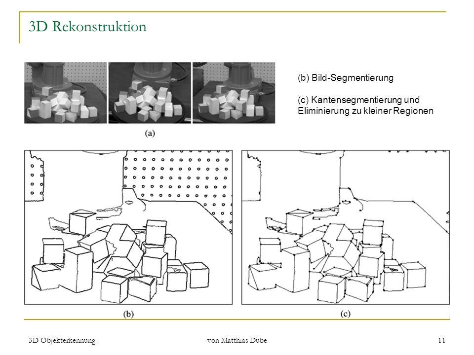 3D Rekonstruktion (b) Bild-Segmentierung