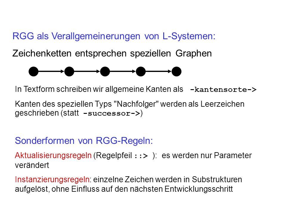 RGG als Verallgemeinerungen von L-Systemen:
