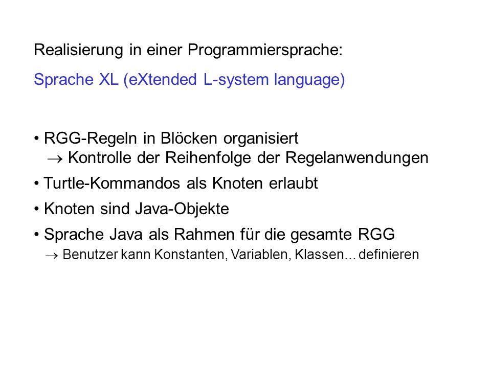 Realisierung in einer Programmiersprache: