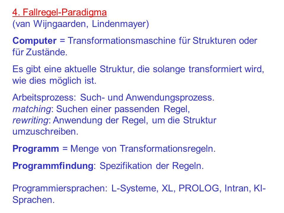 4. Fallregel-Paradigma (van Wijngaarden, Lindenmayer)