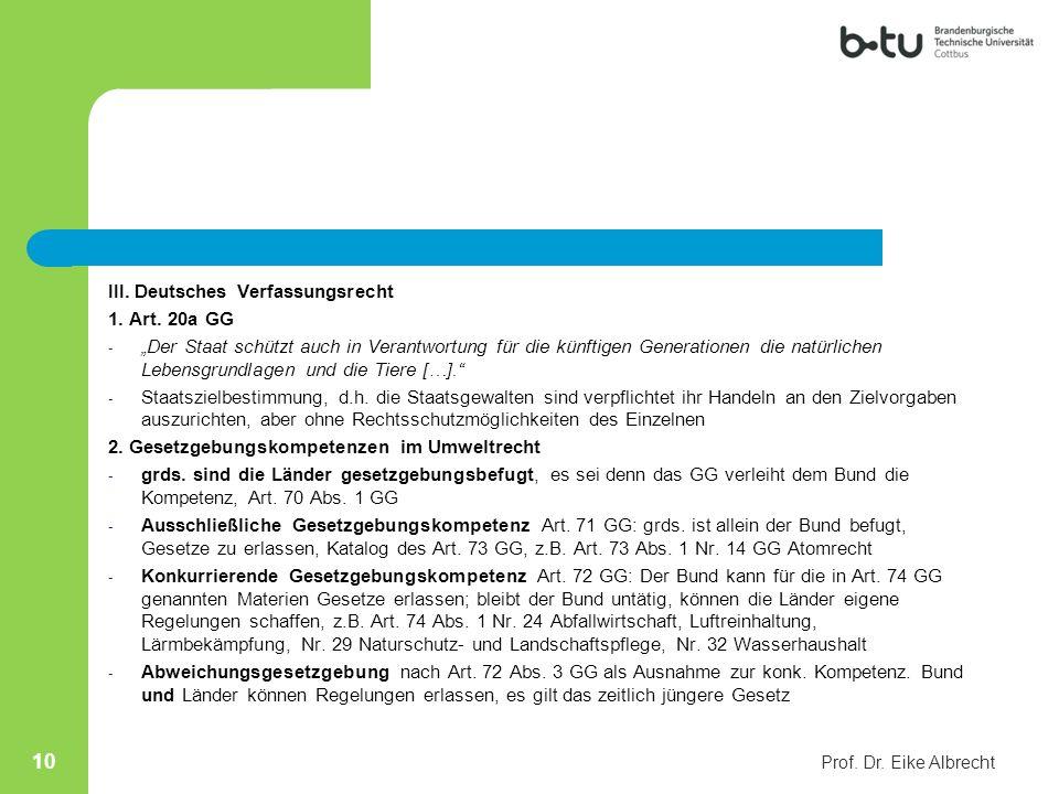 III. Deutsches Verfassungsrecht 1. Art. 20a GG