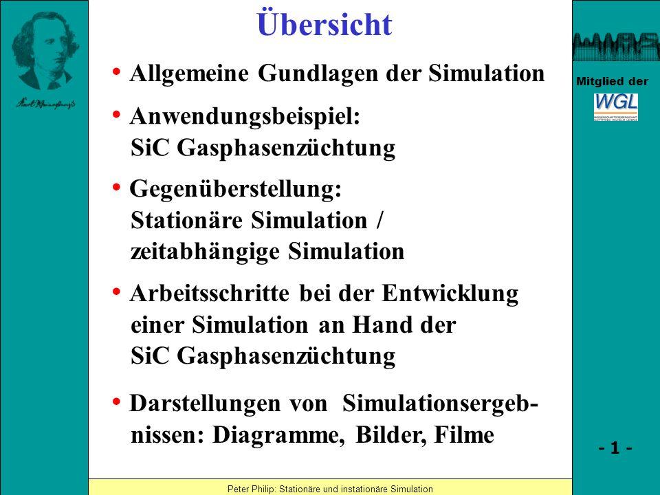 Übersicht • Allgemeine Gundlagen der Simulation • Anwendungsbeispiel: