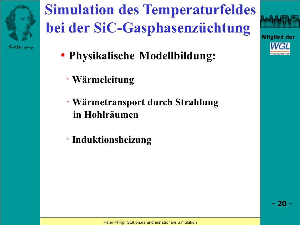 Simulation des Temperaturfeldes bei der SiC-Gasphasenzüchtung