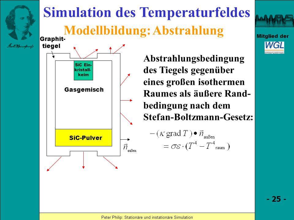 Simulation des Temperaturfeldes Modellbildung: Abstrahlung