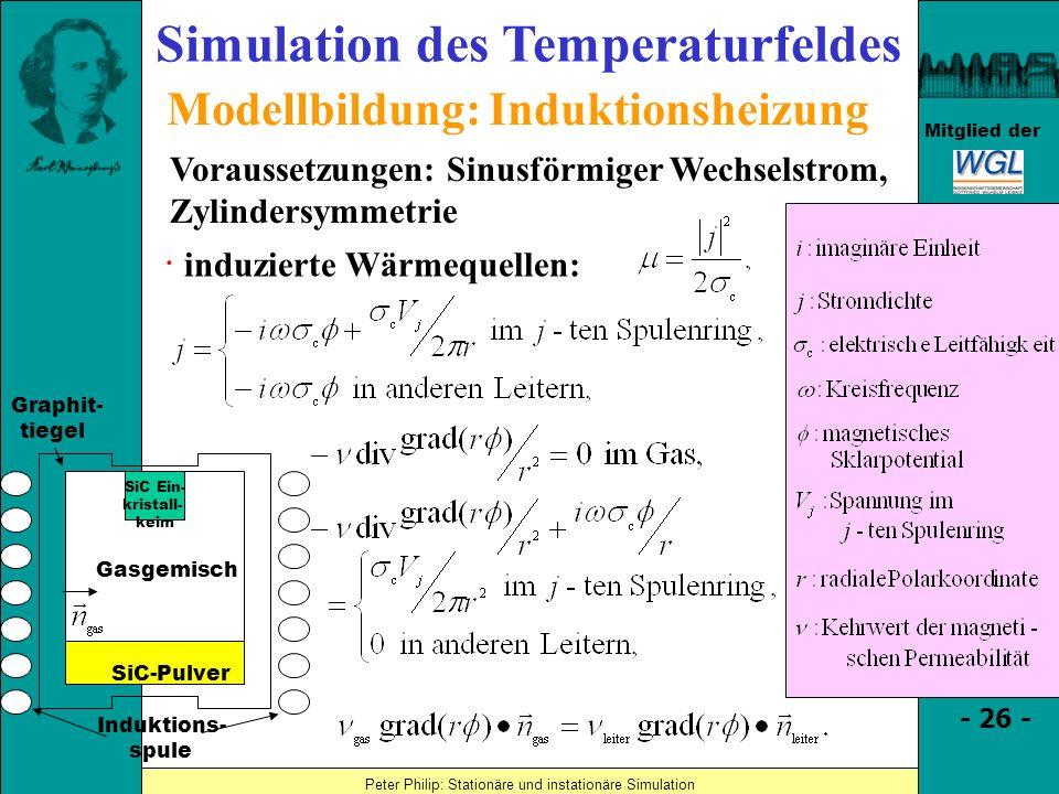 Simulation des Temperaturfeldes Modellbildung: Induktionsheizung
