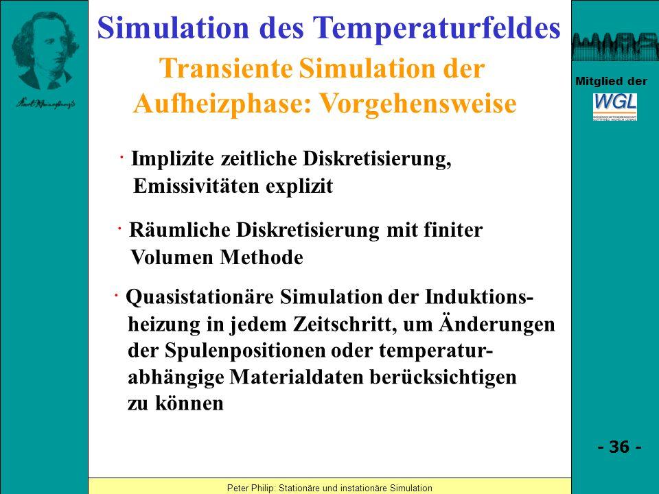 Simulation des Temperaturfeldes
