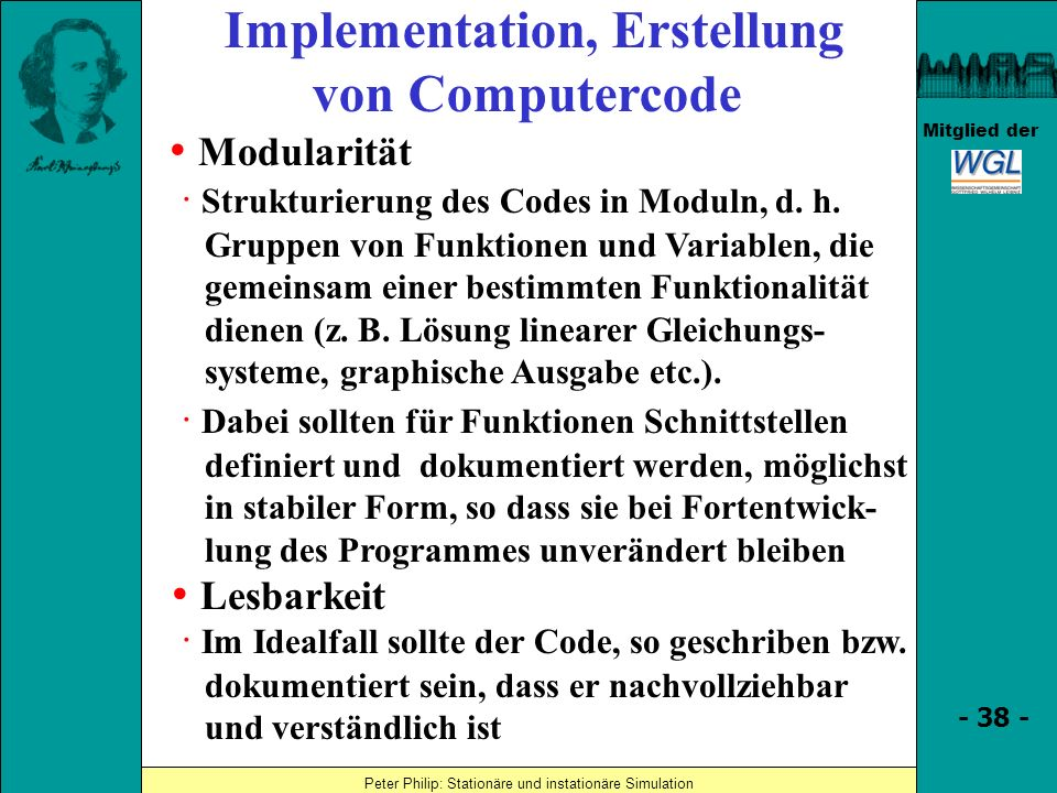 Implementation, Erstellung